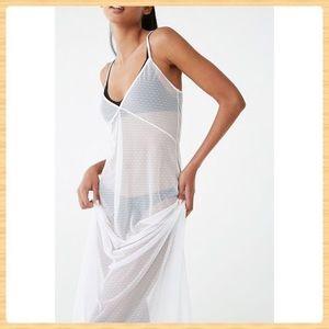 New Forever21 Sheer Mesh Lingerie Dress